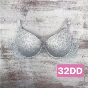 Victorias Secret Heathered Grey Push Up Padded Bra